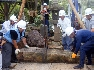 【10】チェーンブロックをつけて、庭石や樹木の運搬