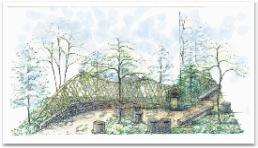 若林区の庭イメージスケッチ